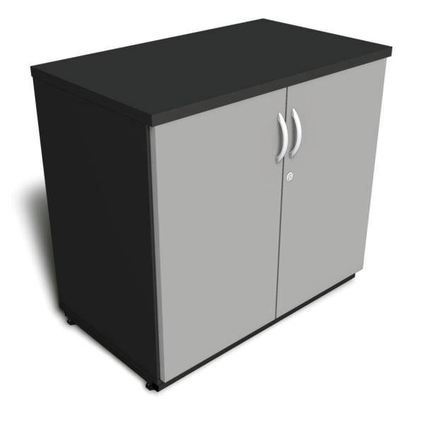 Armário baixo de 25 mm com 2 portas