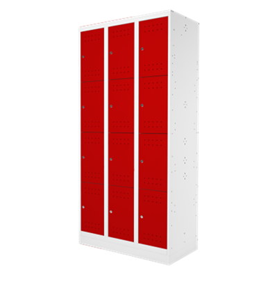 Armário guarda volumes com 12 portas