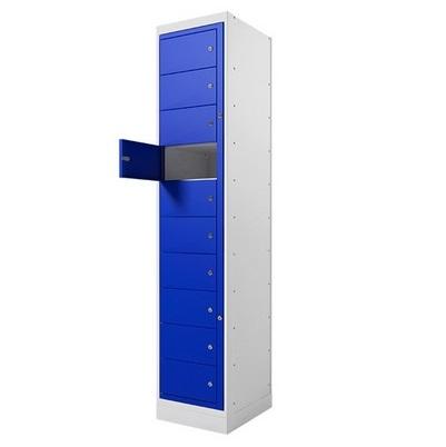 Armário multiuso 10 portas em aço galvanizado com fechadura