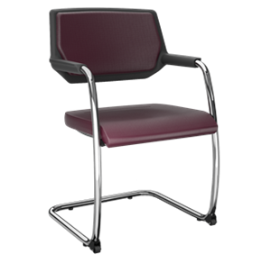 Cadeira fixa aproximação S com rodízios