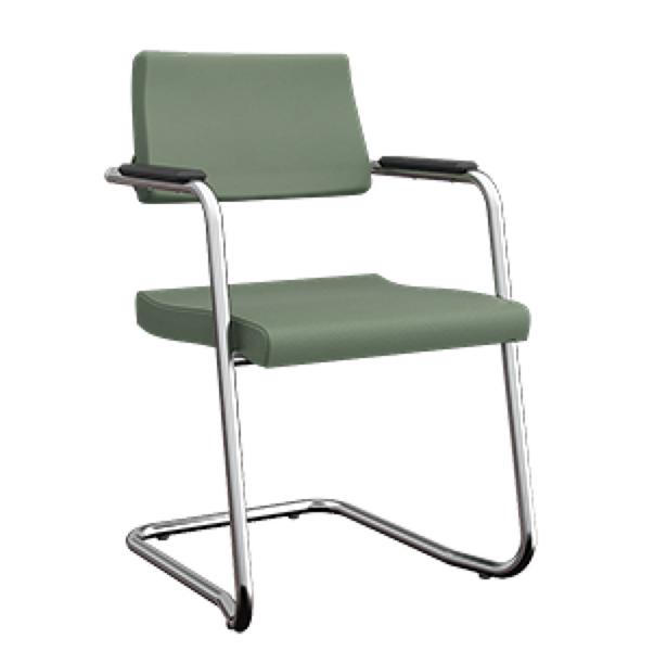 Cadeira fixa aproximação S cromada