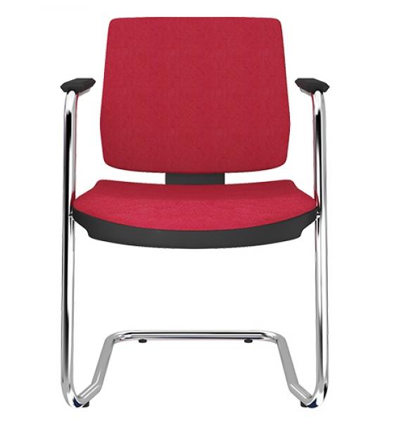 Cadeira aproximação S com estrutura cromada ou preta