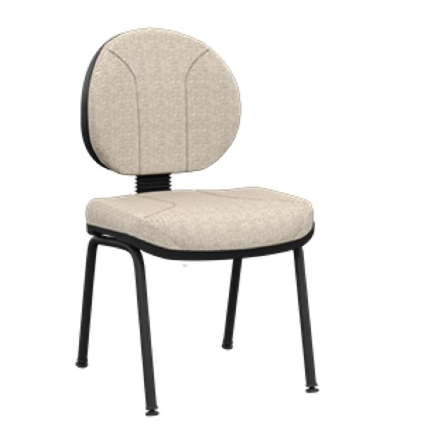 Cadeira fixa executiva com 4 pés