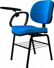 Cadeira executiva com braço escamoteável