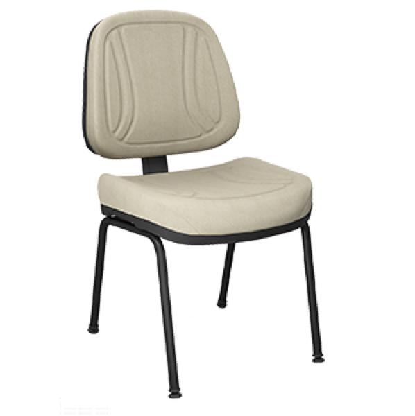 Cadeira executiva fixa com 4 pés