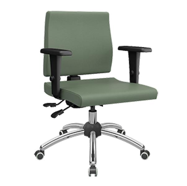 Cadeira giratória executiva com braço e regulagem