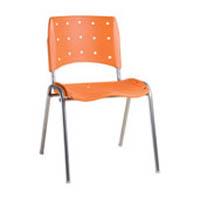 Cadeira pl�stica fixa empilh�vel (06BASE CRO)