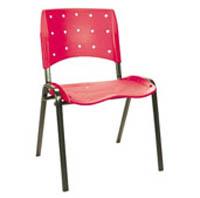 Cadeira pl�stica fixa empilhavel (07 BASE PRE)