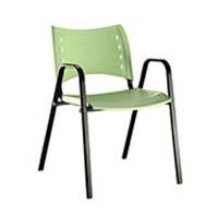 Cadeira em polipropileno p� bra�o (FK ISO FIXA CB)
