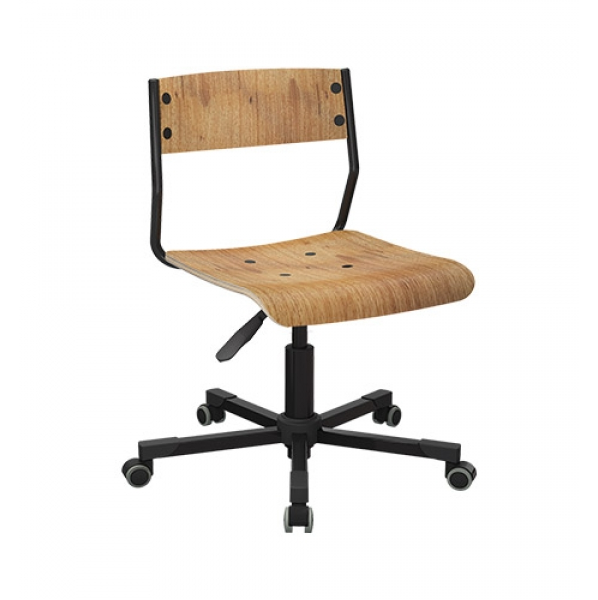 Cadeira giratória em madeira de freijó ou couríssimo