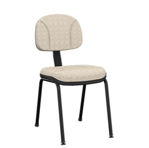 Cadeira fixa secretaria com 4 pés
