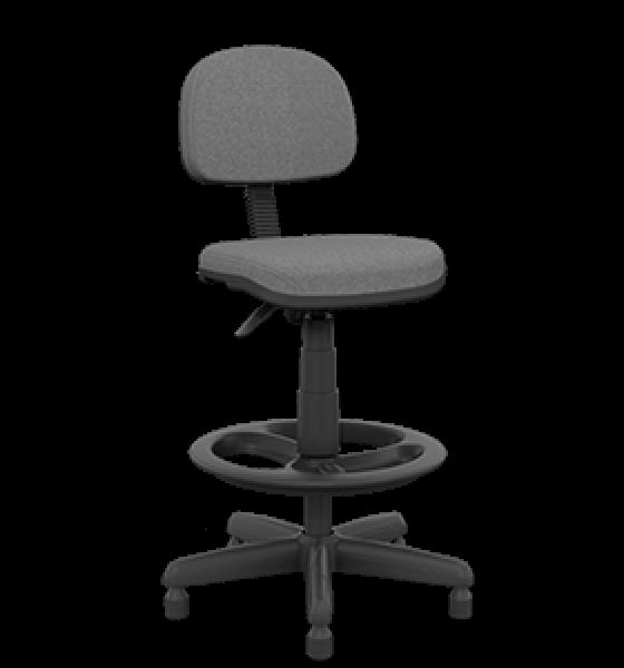Cadeira caixa secretária preta e cinza