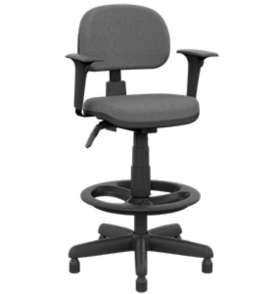 Cadeira caixa secretária giratória