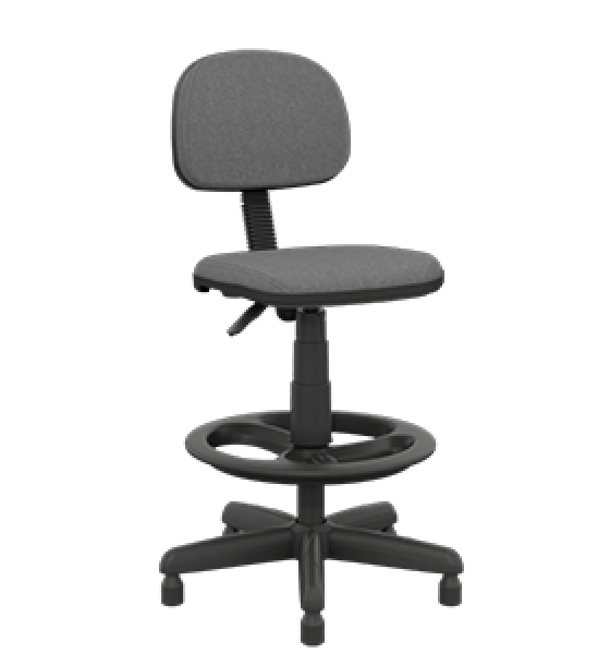 Cadeira caixa secretária slim com sapata