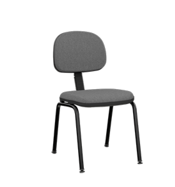 Cadeira fixa secretária slim com 4 pés