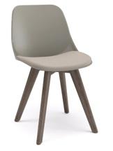Cadeira Secretária Fixa pé de madeira