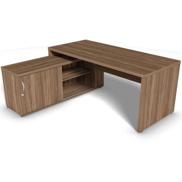 Mesa com armário 1 porta de correr e 1 vão