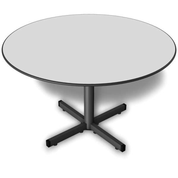 Mesa de reunião redonda com tampo de 15 mm