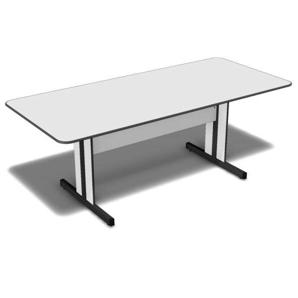Mesa de reunião retangular com tampo de 15 mm
