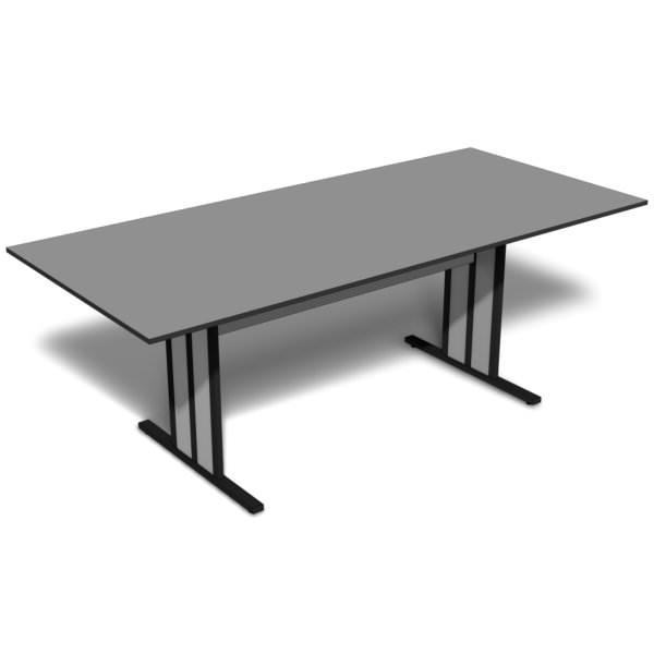 Mesa de reunião retangular de 15 mm
