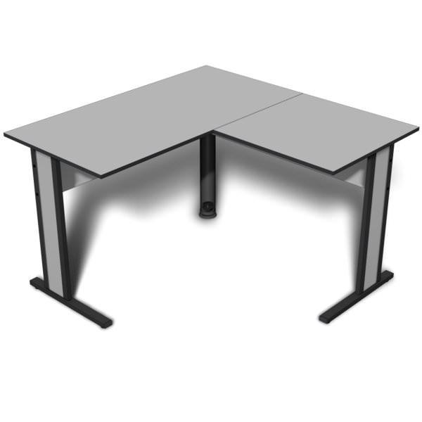 Mesa em L de 15 mm com fita