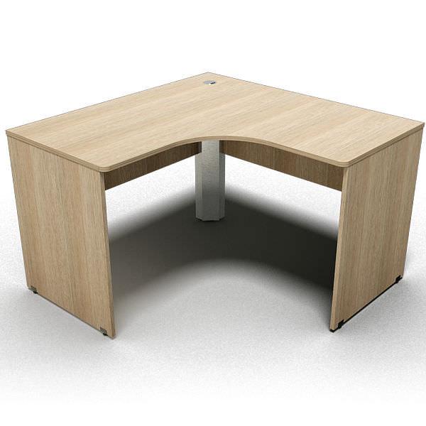 Mesa em L de 18 mm com canto redondo