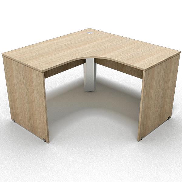 Mesa em L de 18 mm com canto reto