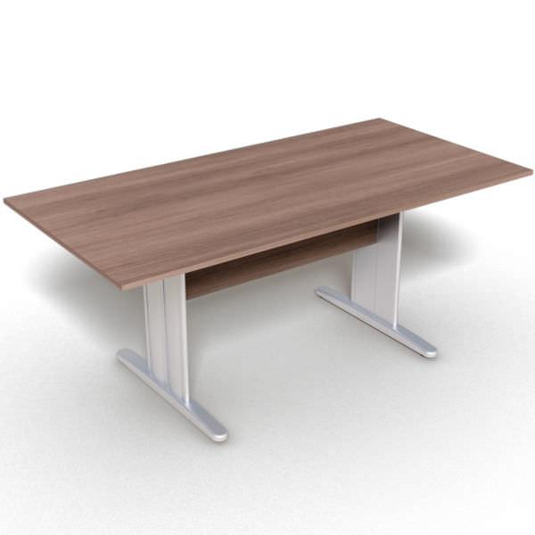 Mesa reunião retangular com tampo de 25 mm