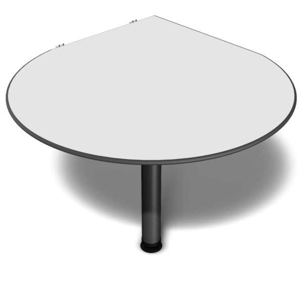 Mesa de reunião gota com pé tubo