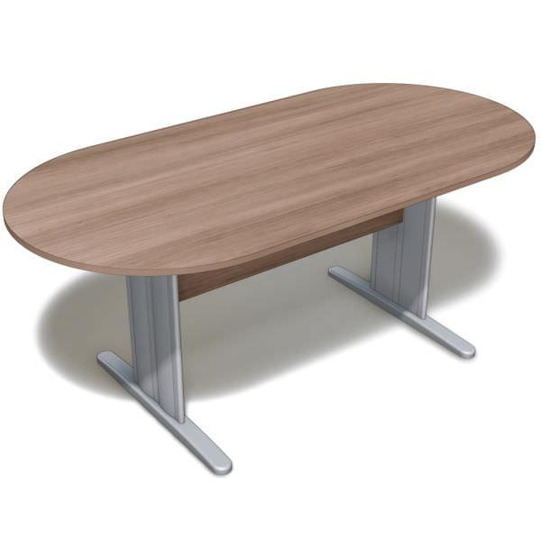 Mesa reunião oval com tampo de 18 mm