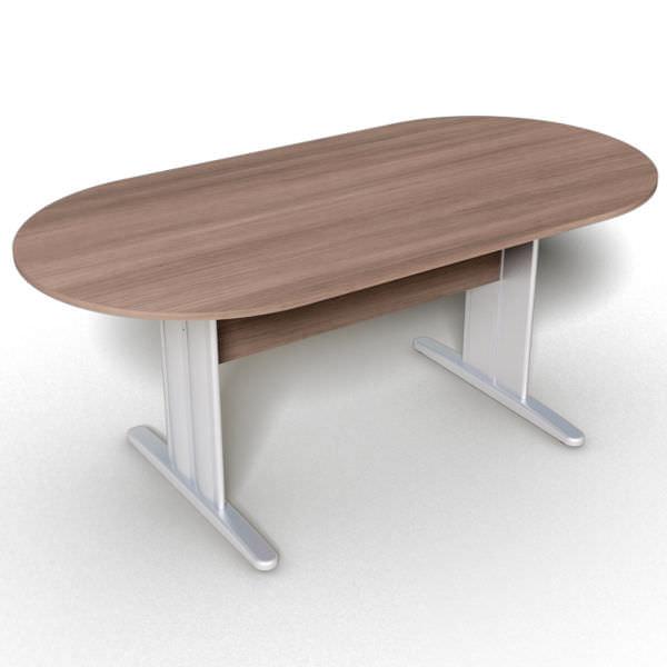 Mesa reunião oval com tampo de 25 mm