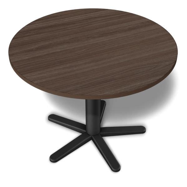 Mesa de reunião redonda com pés de aço