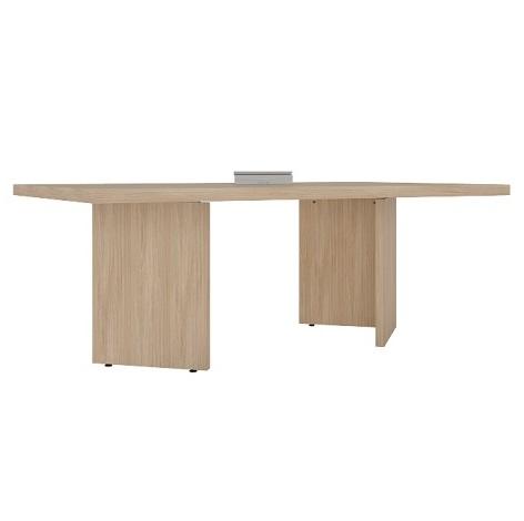 Mesa reunião retangular com pés painéis em V