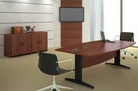 Mesa de reunião semi-oval (ARSC 20ALF)